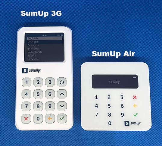 terminal sumup 3G et Air