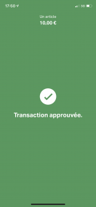 transaction approuvée