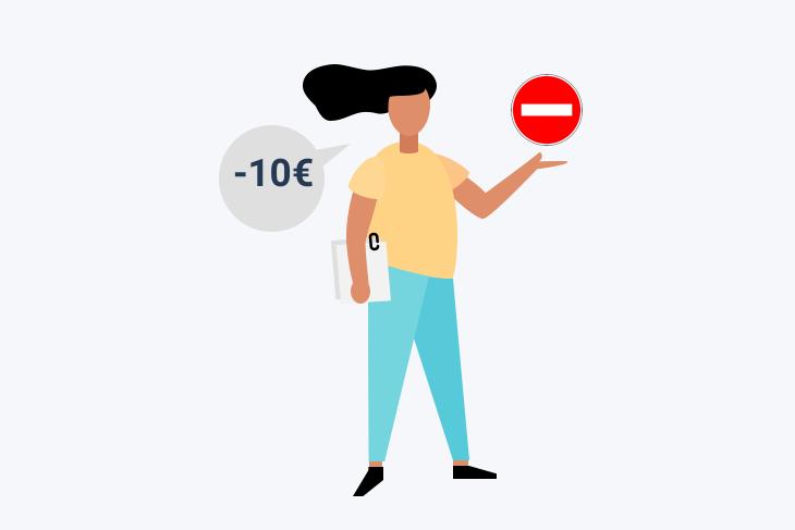 refus carte -10€