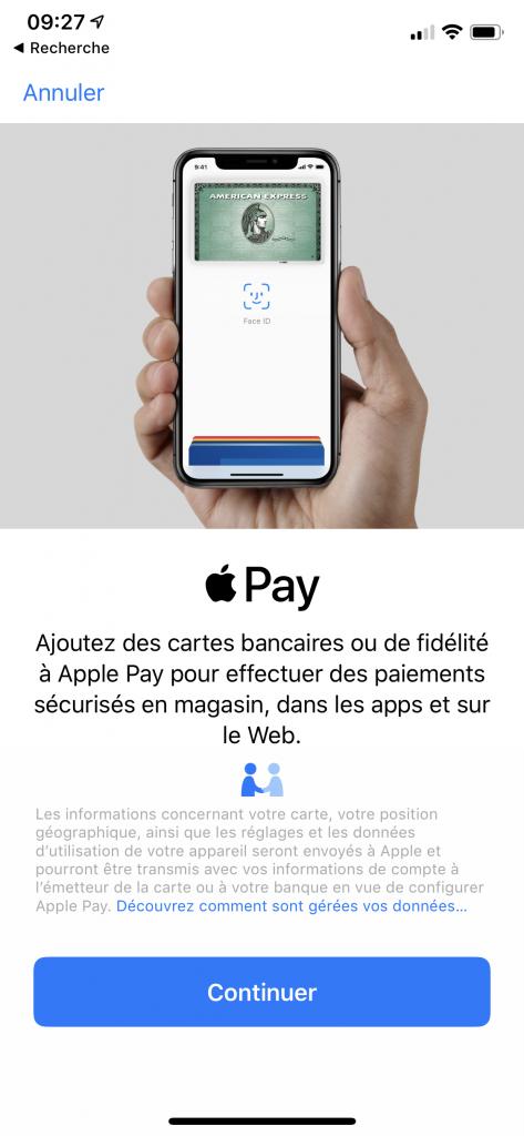 Configurer Apple Pay