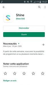 Application Shine