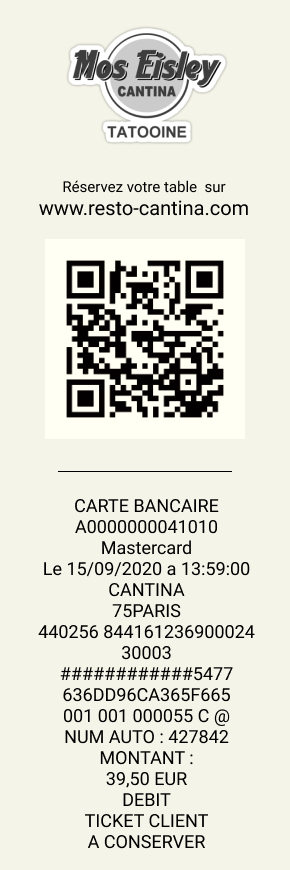 ticket de caisse