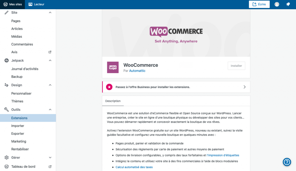 Woo Commerce wordpress