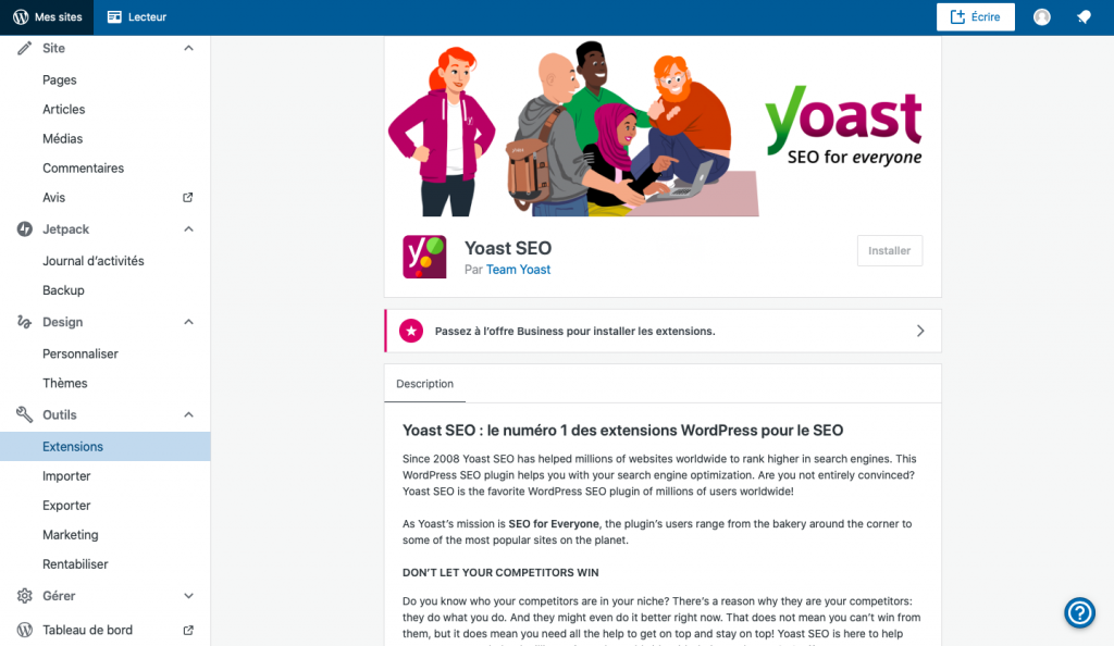 Yoast SEO wordpress