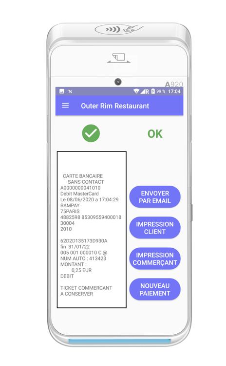 ticket paiement digitalisé