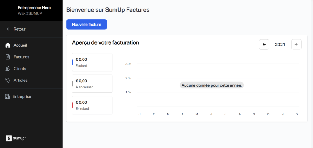 Dashboard SumUp Factures