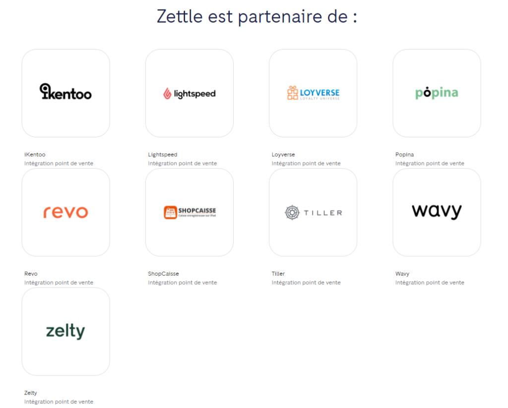 partenaires intégration Zettle Go